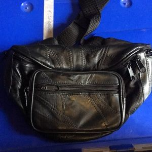 Handbags - Black fanny pack 6 pocket